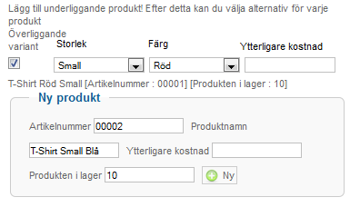 VirtueMart manual - produktattribut