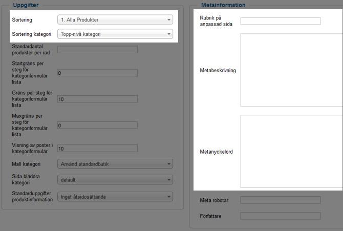 VirtueMart Manual - Produktkategorier